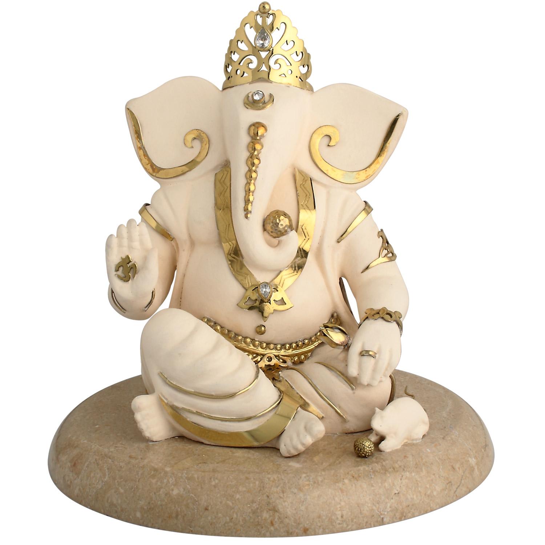 Ganesh Ashirwad Idol In Brass Art And Decors