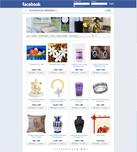 Art and Decors Facebook Store