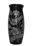 Carved Decorative Small Vase in Black