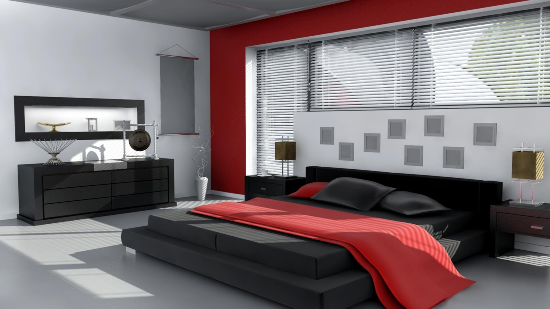 awesome red white black bedroom design   Blood Red Bedroom   Art and Decors