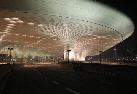 Mumbai airport at night